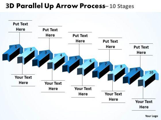 Strategic Management 3d Parallel Up Arrow Process Business Diagram