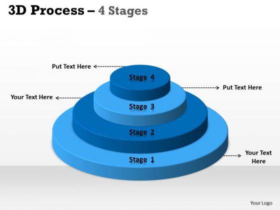 Strategic Management 3d Process 4 Stages For Marketing Business Diagram