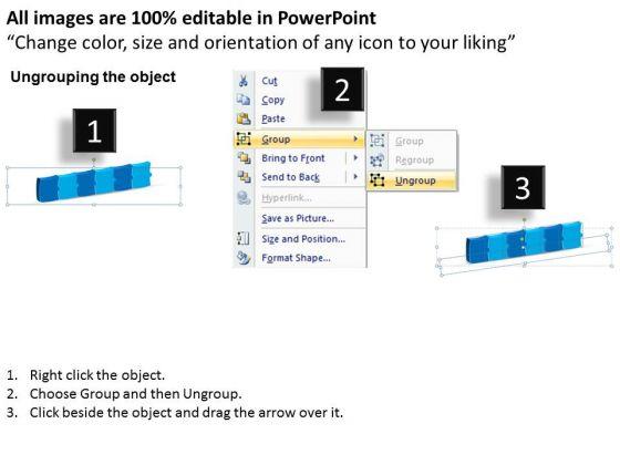 strategic_management_3d_puzzle_linear_flow_process_6_stages_sales_diagram_2