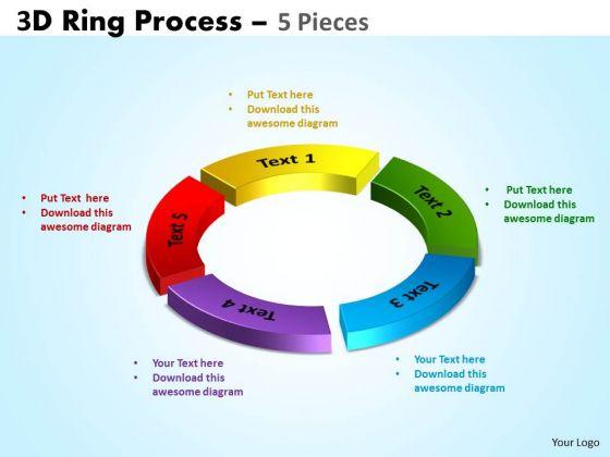 Strategic Management 3d Ring Process 5 Pieces Business Diagram