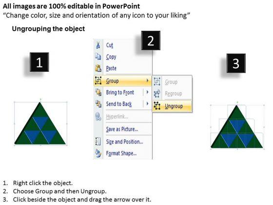 strategic_management_3d_triangle_process_9_pieces_business_diagram_2