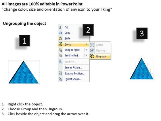 strategic_management_3d_triangle_puzzle_process_12_pieces_business_diagram_2