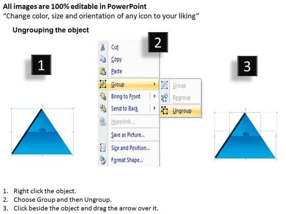 strategic_management_3d_triangle_puzzle_process_2_pieces_business_diagram_2