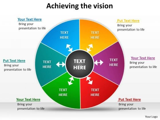 Strategic Management Achieving The Vision Diagrams Templates Strategy Diagram