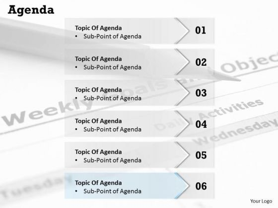 Strategic Management Agenda Marketing Diagram