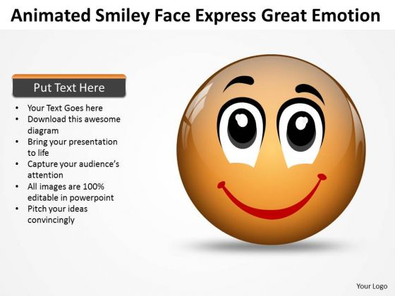 Strategic Management Animated Smiley Face Express Great Emotion Sales Diagram