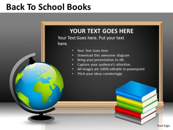Strategic Management Back To School Books Sales Diagram