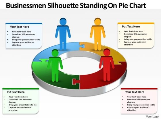 Strategic Management Busines Men Silhouettes Diagram PowerPoint Templates Business Diagram