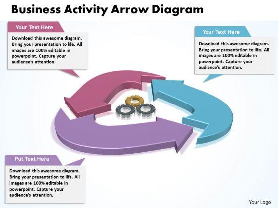 Strategic Management Business Activity Arrow Diagram Consulting Diagram