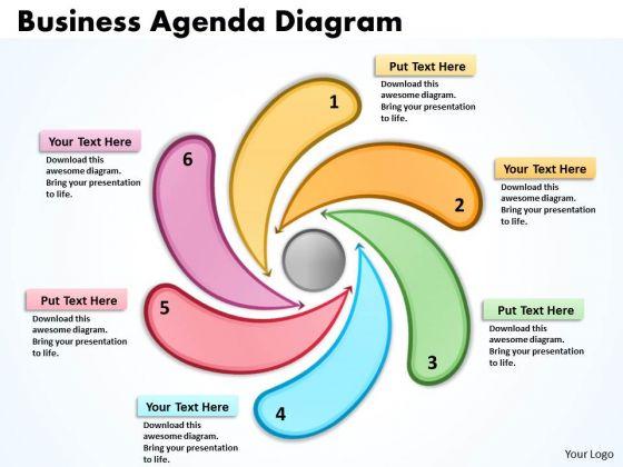 Strategic Management Business Agenda Diagrams Templates Sales Diagram
