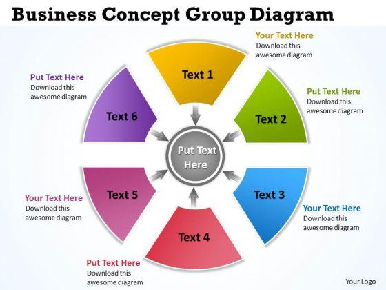 Strategic Management Business Concept Group Diagram 5 Sales Diagram