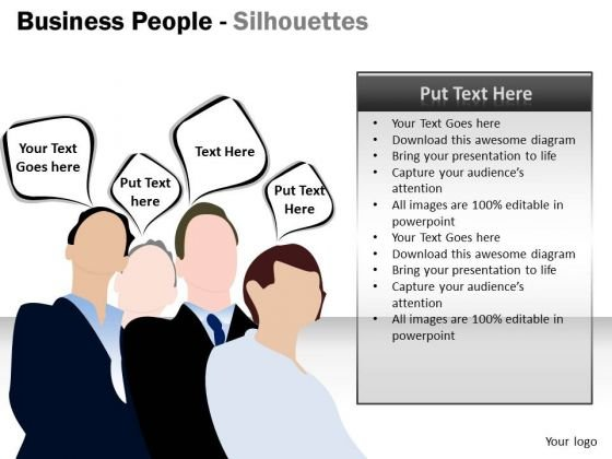 Strategic Management Business People Silhouettes Marketing Diagram