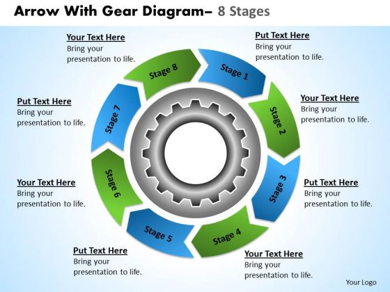 Strategic Management Business Planning Process With Gear Sales Diagram