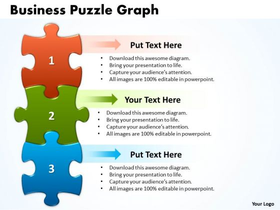 Strategic Management Business Puzzle Graph Business Diagram