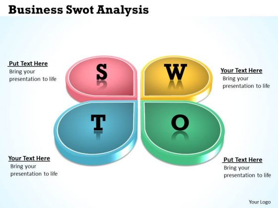 Strategic Management Business Swot Analysis Sales Diagram