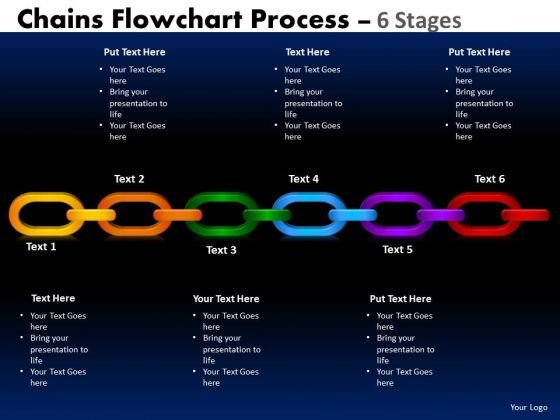 Strategic Management Chains Flowchart Process Diagram 6 Stages Consulting Diagram