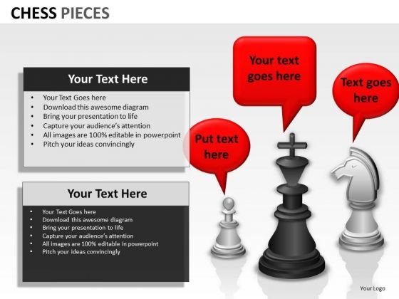 Strategic Management Chess Pieces Strategy Diagram