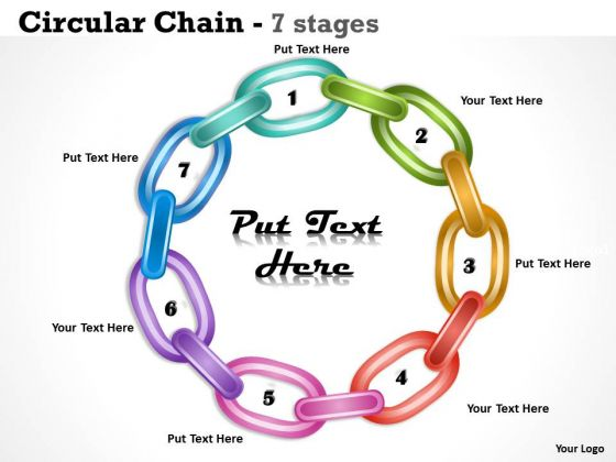 Strategic Management Circular Chain 7 Stages Sales Diagram