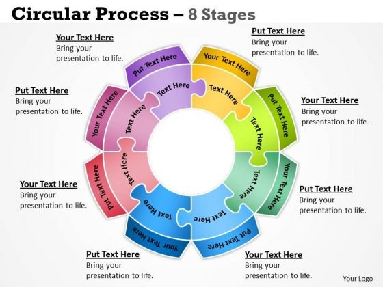 Strategic Management Circular Flow Process 8 Stages Sales Diagram