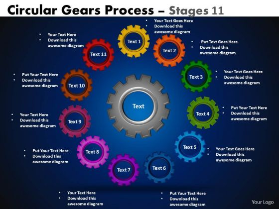 Strategic Management Circular Gears Flowchart Process Diagram Marketing Diagram