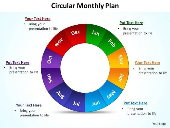 Strategic Management Circular Monthly Plan Marketing Diagram