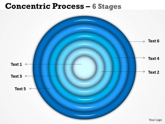 Strategic Management Circular Process 6 Stages Sales Diagram