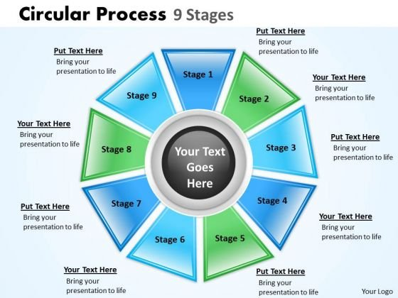 Strategic Management Circular Process 9 Stages Business Diagram
