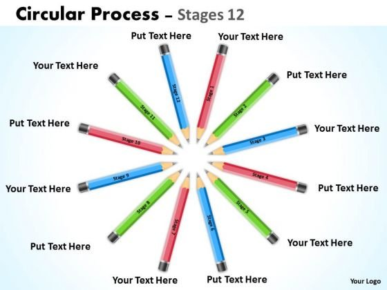 Strategic Management Circular Process Stages 12 Business Diagram