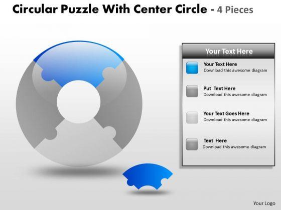 Strategic Management Circular Puzzle Diagram Sales Diagram