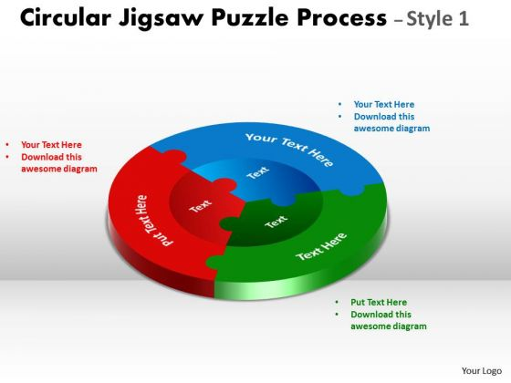 Strategic Management Circular Puzzle Process Diagram Style Business Cycle Diagram