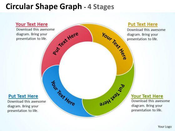 Strategic Management Circular Shape Graph 4 Stages Business Diagram
