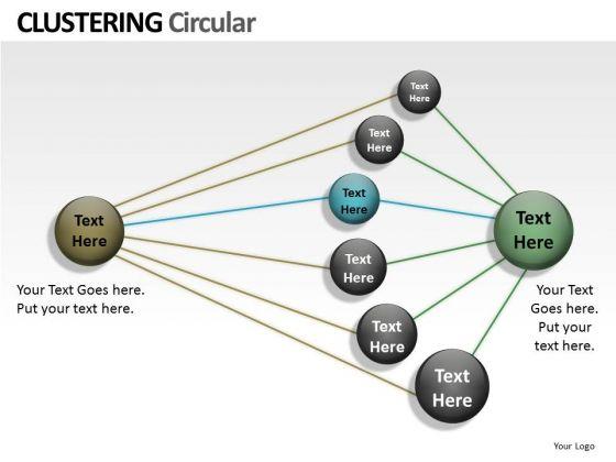 Strategic Management Clustering Circular Ppt Business Diagram