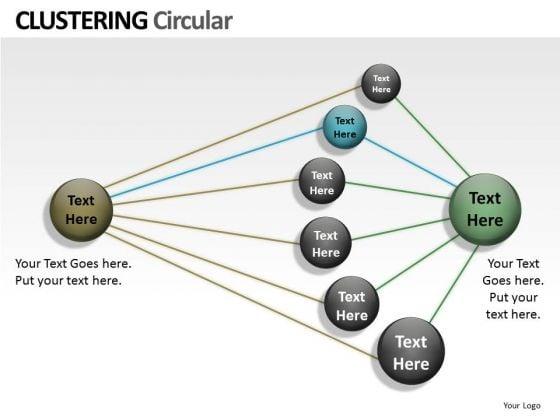 Strategic Management Clustering Circular Ppt Business Framework Model