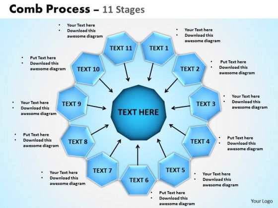 Strategic Management Comb Process 11 Stages Consulting Diagram