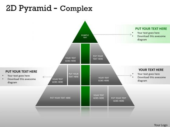 Strategic Management Complex Design 2d Pyramid Strategy Diagram