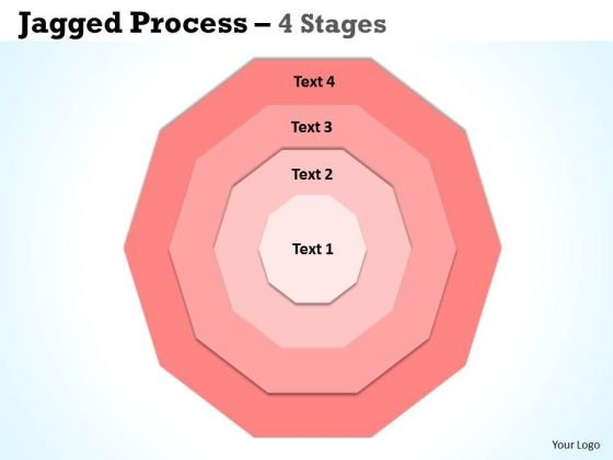 Strategic Management Concentric 4 Stages Business Cycle Diagram