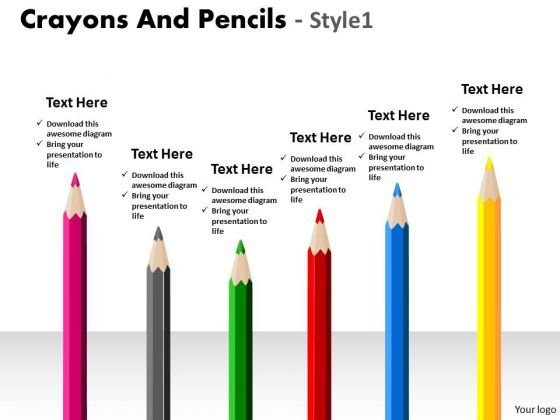 Strategic Management Crayons And Pencils Style 1 Consulting Diagram