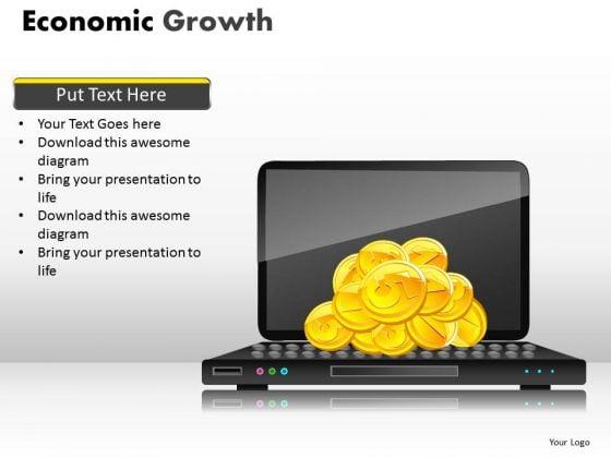 Strategic Management Economic Growth Sales Diagram