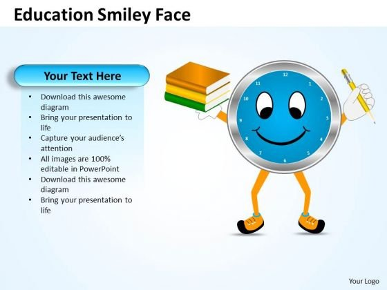 Strategic Management Education Smiley Face Business Diagram