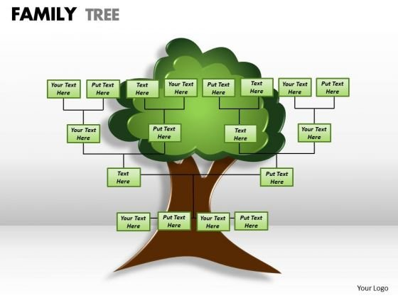 Strategic Management Family Tree Business Diagram