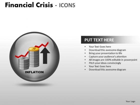 Strategic Management Financial Crisis Icons Business Diagram