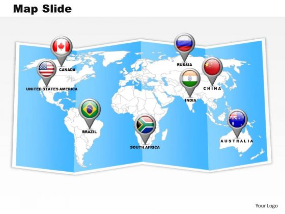 Strategic Management Find Location On World Map Marketing Diagram