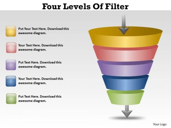 Strategic Management Five Level Fliter Process Funnel Diagram Mba Models And Frameworks