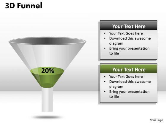 Strategic Management Funnel Diagram With 20 Percent Value Business Framework Model