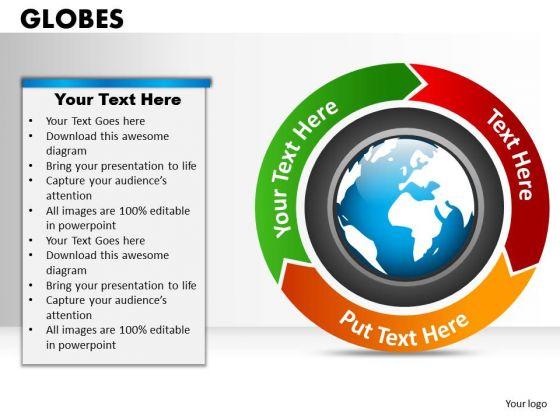 Strategic Management Globes Marketing Diagram