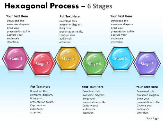 Strategic Management Hexagonal Process 6 Stages Sales Diagram