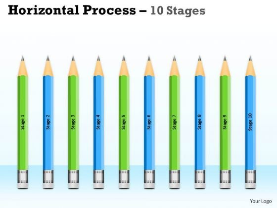 Strategic Management Horizontal Process 10 Stages Consulting Diagram
