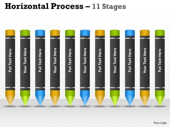 Strategic Management Horizontal Process 11 Stages Consulting Diagram