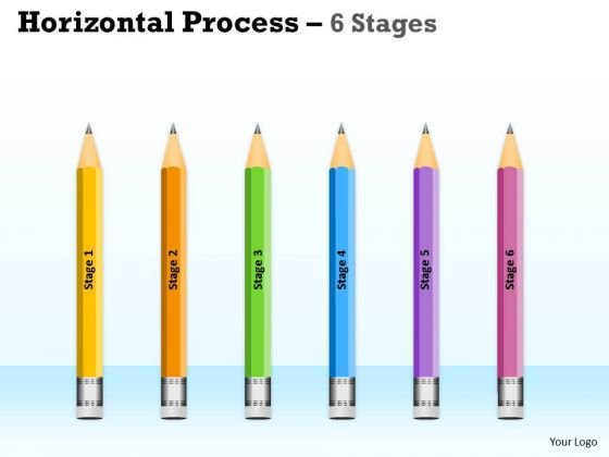 Strategic Management Horizontal Process 6 Stages Consulting Diagram