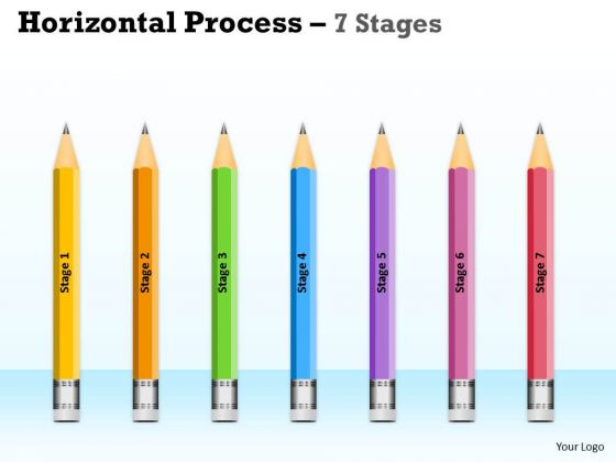 Strategic Management Horizontal Process 7 Stages Business Consulting Diagram